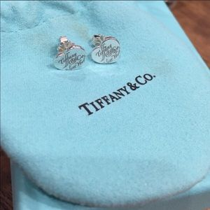 Authentic Tiffany and Co Heart Earrings